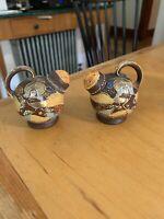 Vintage Hand Painted Porcelain Jug or Urn Salt and Pepper Shakers  Japan P103J