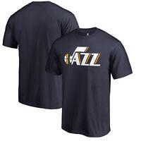 Utah Jazz Fanatics Branded Primary Wordmark T-Shirt - Navy