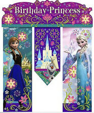 DISNEY FROZEN hanging door BANNER princess Birthday Party Decor ANNA ELSA OLAF