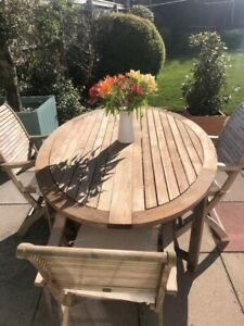 Royalcraft folding wooden garden table and chairs