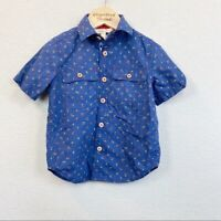 Matilda Jane Cherry On Top Short Sleeve Button Up Shirt Toddler Boy size 2