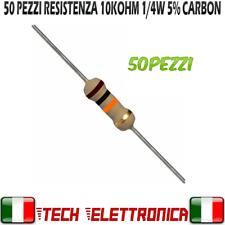 50 Pezzi Resistenza 10 kohm strato carbone 1/4W 5% Resistor 10k