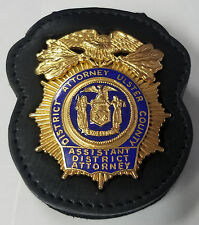 Ulster County (NY) Assistant District Attorney's Badge Cut-Out Belt Clip