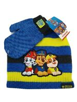 Nickelodeon Paw Patrol Toddler Kids Boys Winter Hat Glove Set Brand New 2T-5T