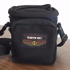 Black Small Tamrac Camera Bag 3 Compartments Belt & Shoulder Straps