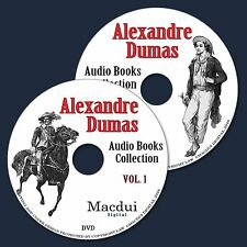 Alexandre Dumas Audio Books Collection on 2 Data DVD's Unabridged English 9 Audi