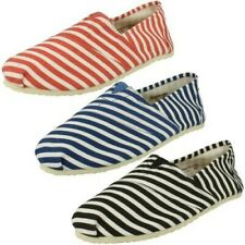 Mens Zig Zag - Flat Slip On Striped Casual Gusset Shoe