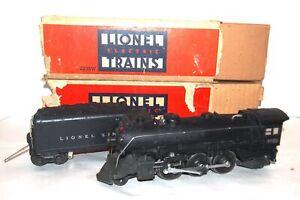 Lionel Prewar O Gauge Scarce Late 225 Steam Locomotive & 2235W Tender! 1941-42!