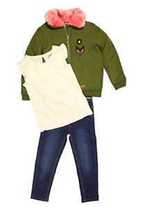 NWT! Buffalo by David Bitton Little Girls' 3-Piece Top, Pant, and Outerwear Set