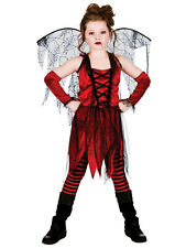 Halloween Girls Fancy Dress Up Horror Vampire Fairy Scary Kids Costume Ages 5-13