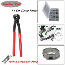 304 Stainless Steel Adjustable Single Ear Hose Clamps with Clamp Pliers Pincer