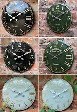 Outdoor indoor Garden Wall Station Church Clock Tower Clock Hand Painted