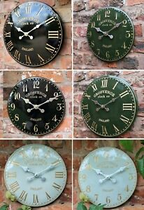 Garden Wall Clock Station Church Clock Tower Hand Painted Outdoor indoor