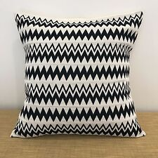 "16""/18"" Mexican Fabric Thick BLACK & WHITE Cushion Pillow Cover. Made Australia"