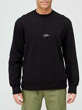 New Topman Signature Logo Crew Neck Black Sweatshirt Jumper Size M BNWT RRP £25