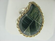 DTR JAY KING MINE STERLING SILVER BANDED AGATE  RING SIZE 12