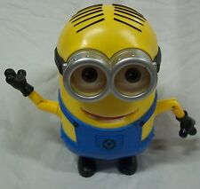 "Despicable Me Minion Movie ANIMATED TALKING  DAVE MINION 8"" Plastic Toy"