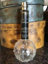 VINTAGE LUCIEN LELONG CRACKLED GLASS HOBNAIL OPENING NIGHT PERFUME BOTTLE Empty