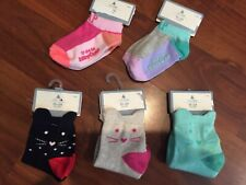 12 18 24 M Baby Gap Kids Lot 5 Pairs kitty cat Ankle Socks toddler New girl Nwt