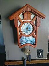 Thomas Kinkade's Timeless Memories Cuckoo Clock Ltd Ed Bradford Exchange No Box