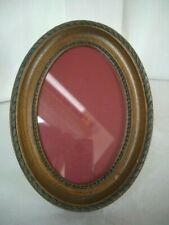 """Vintage Wooden oval Free standing picture frame ~7.5""""/19cm tall"""