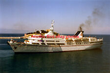 Greek cruise ship  ARCADIA (Attika Cruises) - Two photos in the Aegean Sea 1997