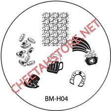 Stamping plaque Bundle Monster BMH04 pour vernis ongles