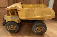 Vintage Nylint Jumbo Dump Truck Yellow Pressed Steel 1980's