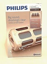 Phillips SHOQBOX Wireless Portable Speaker Bluetooth Splash proof