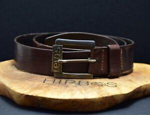 Levis Vintage Mens Leather Jeans Belt Brown Size 38