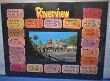 Riverview Amusement Park 1950's ~ Comet Roller Coaster + 20 Tickets