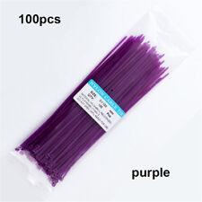 100 Pcs Self-Locking Nylon Plastic Cable Ties Wrap Wire Cord Zip Tie Strap ~