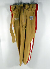 2009 San Francisco 49ers Team Game Issued Gold Pants Reebok Size 26 3193