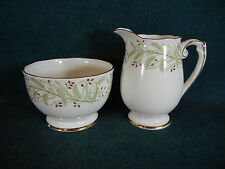 Roslyn Whispering Grass Sugar and Creamer Set