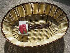 Korb aus Kunststoff oval natur braun 25,5 cm Anbietschale