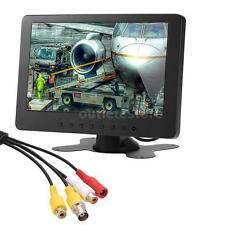 "7"" Inch 1024x600 TFT LCD Color Monitor 16:9 BNC AV For PC Security CCTV DVD A9E4"