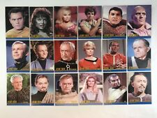 STAR TREK TOS 40th ANNIVERSARY 3 Complete TRIBUTE SERIES Chase Card Set T1-T18