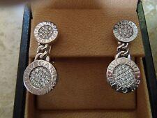 Bvlgari Bulgari 18k Diamond Logo  Diamond Dangle Earrings.  $9800