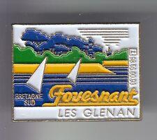 RARE PINS PIN'S .. TOURISME ILES BRETAGNE VOILE LES GLENANS FOUESNANT 29 N°1 ~DJ