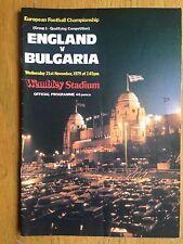 England v Bulgaria 1979/80 European Championship programme