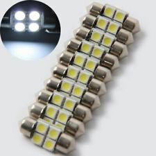 10Pcs 31mm 5050 White Car Dome LED Light Bulbs For License Plate/Vanity Lights