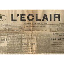 L'ÉCLAIR 4-12-1915 ÉTOILE SPORTIVE D'ALAIS  Maire d'ENGUIALÈS et  L'Or de ROGNON