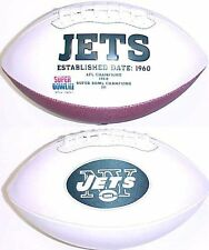 New York Jets Rawlings White Fotoball Signature Full Size NFL Team Logo Football