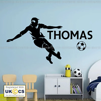 Personalised Football Player Any Name Boys Bedroom Wall Art Mural Decal Sticker