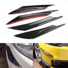 4PCS Car Styling Front Bumper Splitter Fins Body Spoiler Canards Valance Chin