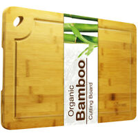 Bamboo Cutting Board, Juice Groove Design Organic Kitchen Health Chopping Board