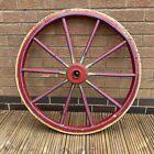 antique cart wheel fair gypsy caravan wrought iron wood garden display prop