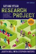 Doing Your Research Project: A Guide For First-Time Researchers-ExLibrary