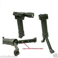 FRONT ForeGrip 3in1 Grip+Steel Inserted Leg Bipod+Side Picatinny Rail for RPR