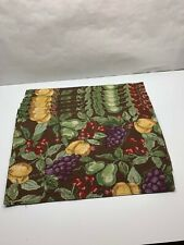 Set 6 Better Homes And Gardens tapestry PLACEMATS With fruit 12 x 19